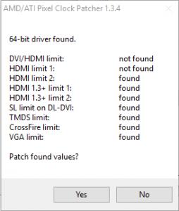 AMD/ATI Pixel Clock Patcher