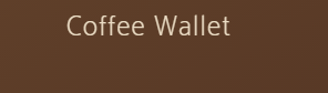 Coffee Wallet