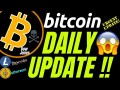 BITCOIN LITECOIN and ETHEREUM DAILY UPDATE!! DOW JONES price prediction, analysis, news, trading